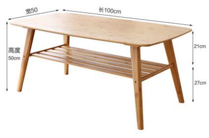 100*50*50 cm Table basse en bambou moderne salon table à thé - 5