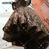2017 Off The Shoulder Ballgown High Low Leopard Printed Prom Dresses Arabic Style Real Photos Customized