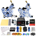 Solong Tattoo Professional Tattoo Kit 2 Guns 2 Pro Tattoo Machine Guns for Liner And Shader, 10 Wraps Coil TK202-32
