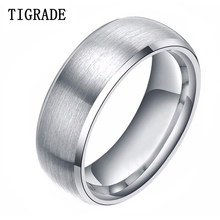 8mm Silver Brushed Tungsten Ring Men Women Wedding Band Fast Delivery free shipping ygk jewelry hot sales 8mm brushed silver steps green lantern darkest night tungsten wedding ring