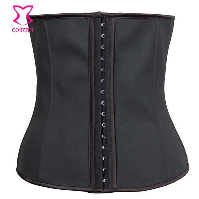 2011 Women Body Shaper Gaine Amincissante Steel Boned Underbust Corset Latex Waist Trainer Workout Waist Cincher Slimming