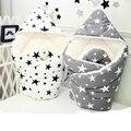 Envoltura envolver bebé sobres para recién nacidos de algodón suave y cálida manta swaddling sleepsack bebé Saco de dormir infantil del lecho AB185
