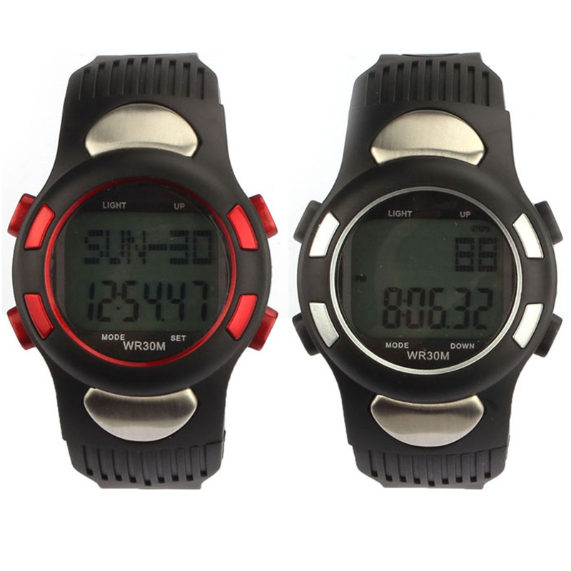 High Quality Digital Professional New Fitness 3D Pedometer Calories Counter Watch Pulse Heart Rate Monitor