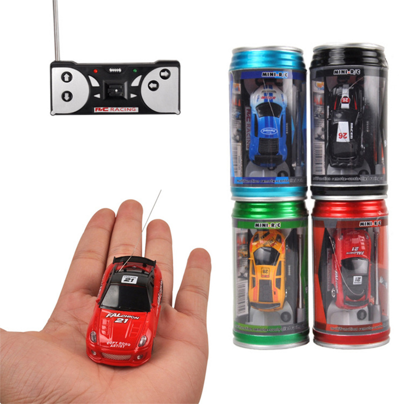 Hot Sales 20KM/H Coke Can Mini RC Car Radio Remote Control Micro Racing Car 4 Frequencies Toy For Children Gifts RC Models