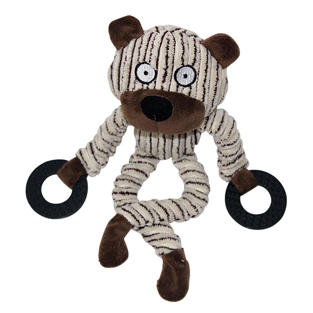 Funny Plush Dog Animal Puppy Monkey Cow Squeaker Toys
