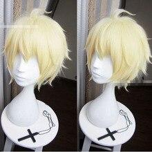 Peluca de Cosplay de Mikaela Hyakuya sin gorro, peluca de Anime Seraph of the End/Owari no Seraph