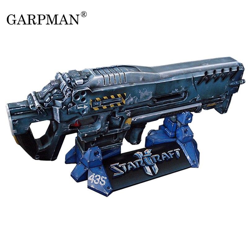 1: 1 Stern Terran Maschine Gun 3d Papier Modell Können Halten Cos Marines Papercraft