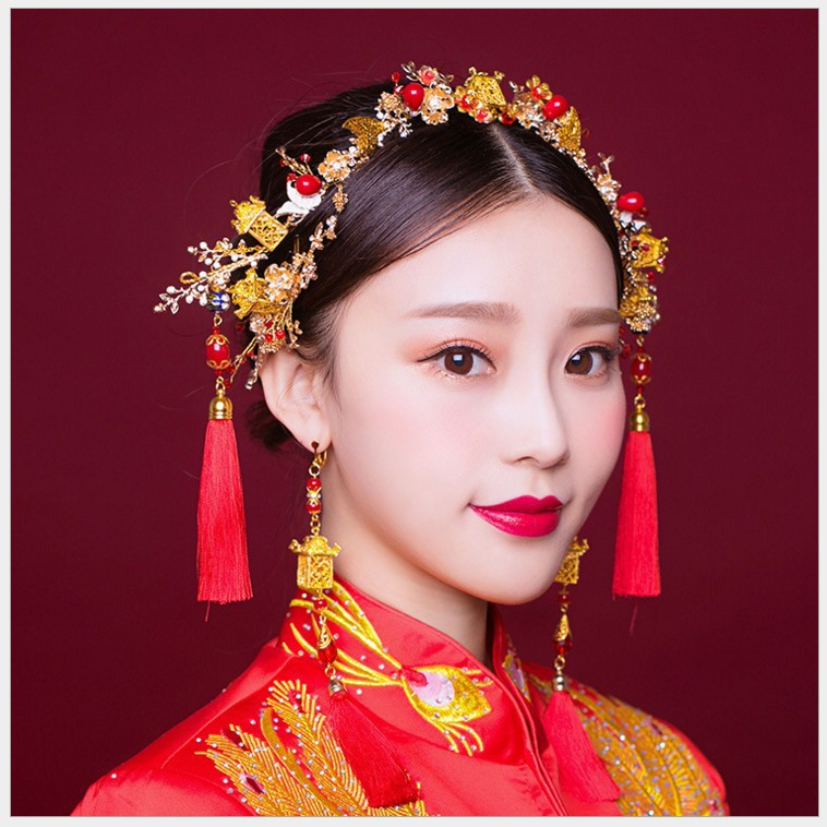 New Chinese hair band bridal tiara children's comb jewelry handmade pavilion ancient costume coronet wear hair accessories black and coffee 2 colors hair tiara ancient chinese emperor or prince costume hair crown piece cosplay use for kids little boy