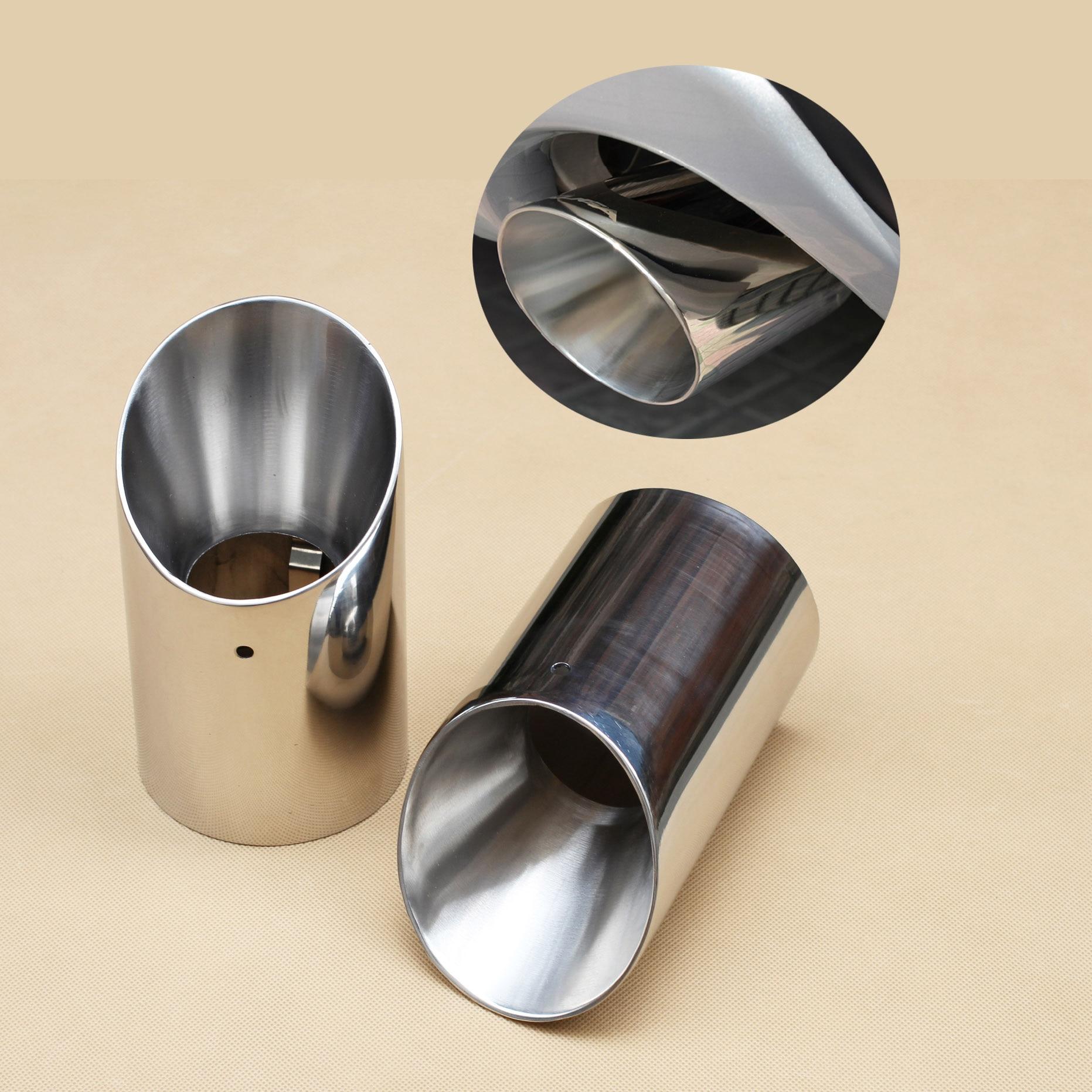 Garniture de couvercle de silencieux de tuyau d'échappement de queue de voiture en acier inoxydable pour Ford Escape Kuga 2013 2014 2015 2016 2017 accessoires