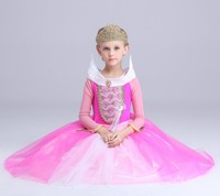 Christmas Gift Fairy Princess Sleeping Beauty Aurora Ball Gown Dresses For Girls Kids Party Wear Tulle