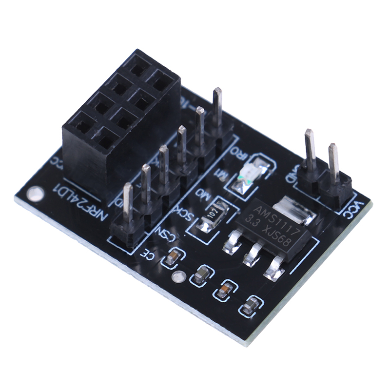 HOT 5Pcs Socket Adapter Plate Board For 8pin NRF24L01 Wireless Transceive Module