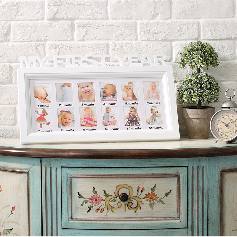 Meinem Ersten Jahr Multi Fotowand Bilderrahmen Baby/Kinder 12 Monate ...