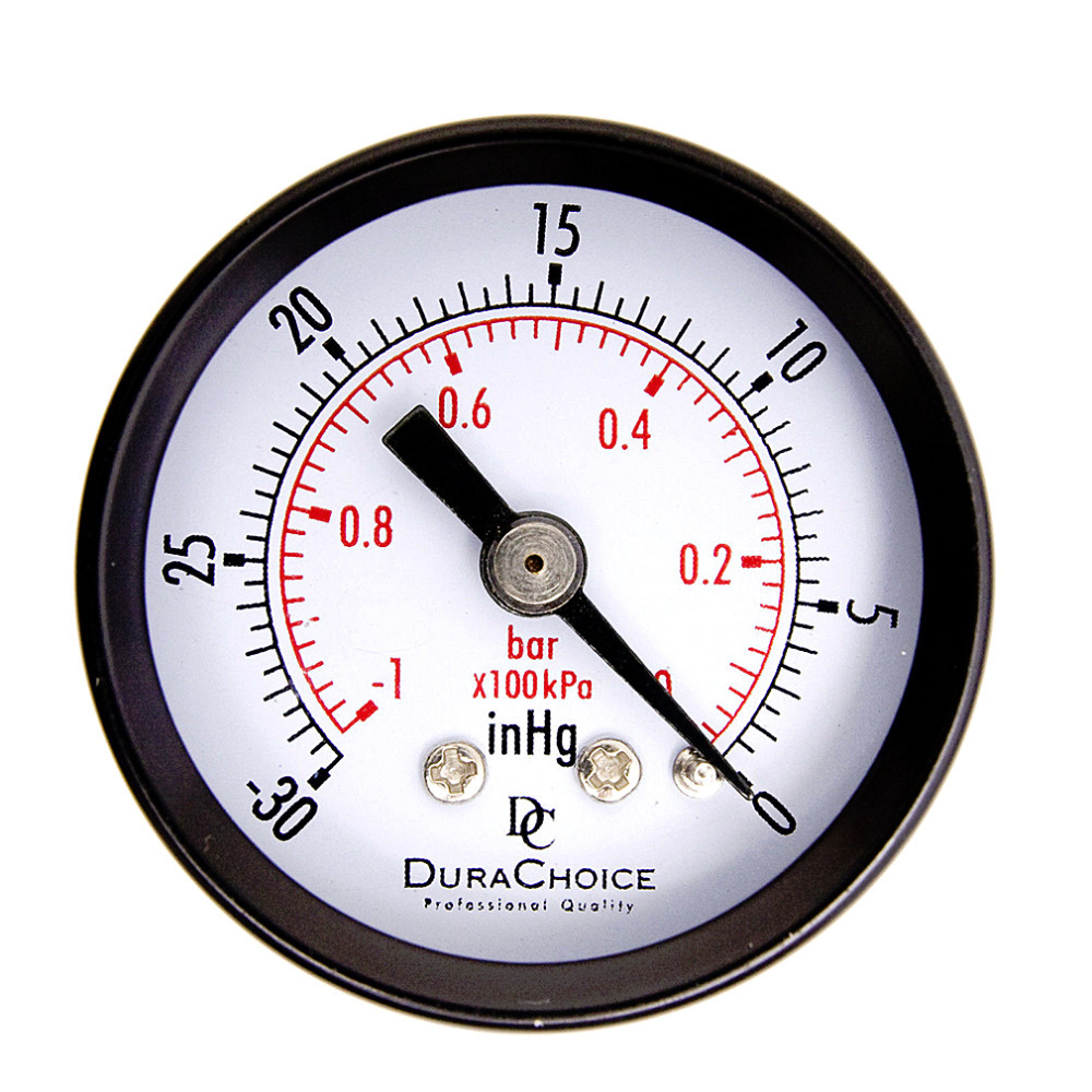 1Pc Double Scale Vacuum Manometer Mini Dial Air Vacuum Pressure Gauge Meter High QualityStable Performance Pressure Gage