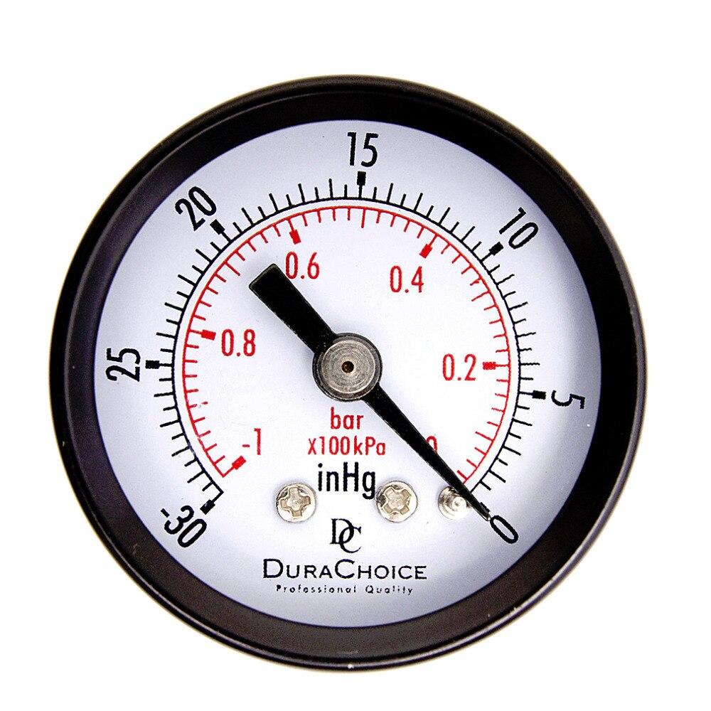 1Pc Double Scale Vacuum Manometer font b Mini b font Dial Air Vacuum Pressure Gauge Meter