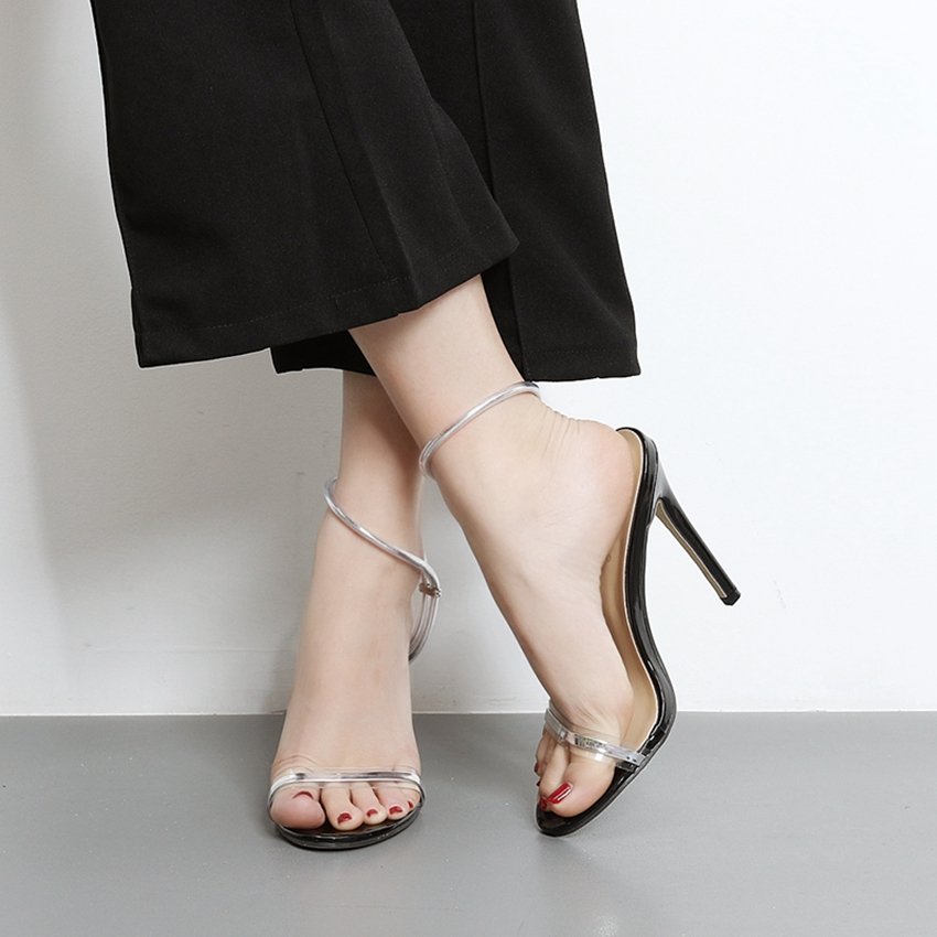 Women Ankle Strap Fashion Sandals Sexy High Heels Summer Party Shoes Woman Stiletto Pumps JJMq7-9 big size 32 43 fashion party shoes woman sexy high heels platform summer pumps ankle strap sandals women shoes