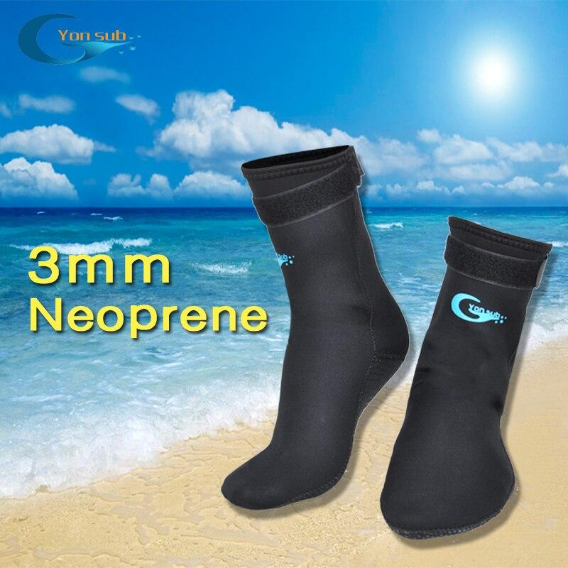 3MM Adult Scuba Neoprene Diving Snorkelling Socks Prevent Scratches Non-Slip Swim Socks Black Diving Socks For Fin/Beach Wear