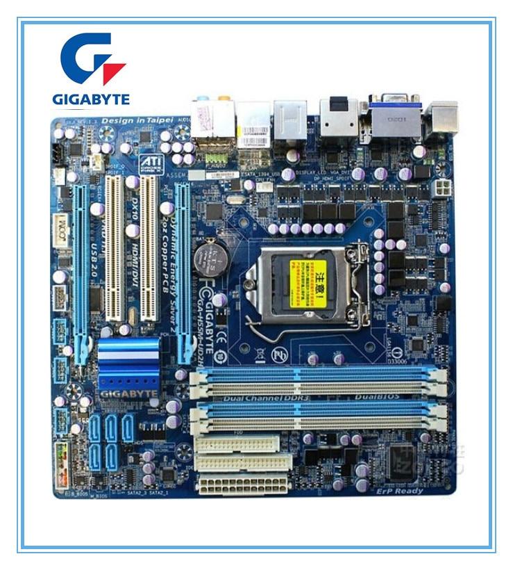 Материнская плата Gigabyte оригинальный совет h55m-ud2h DDR3 ga-h55m-ud2h H55 LGA 1156 DDR3 плата Micro-ATX Бесплатная доставка