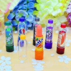 New Fashion 6pcs Makeup Change Color Cola sweet cute Moisturizer Faint scent Lip Balm Lipstick Flavoured Coke Gift