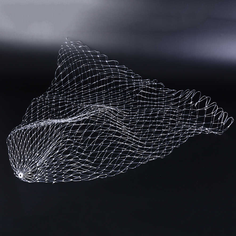 ใหม่1ชิ้นตาข่ายรูปสี่เหลี่ยมขนมเปียกปูนหลุมสุทธิพับตกปลาเครื่องมือ3ขนาดปลาไนล่อนสายตกปลาสุทธิ