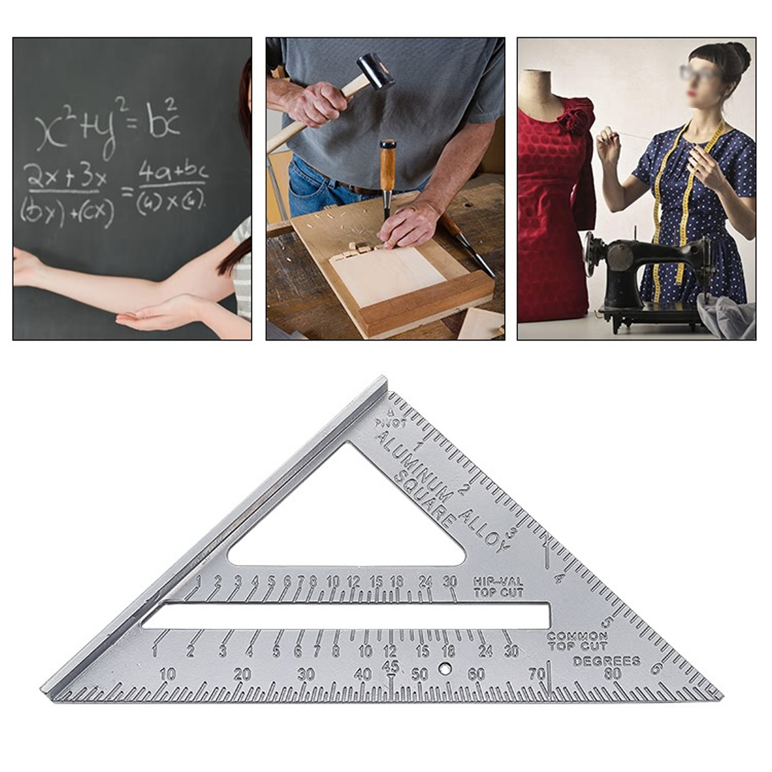 Speed-Quadrat Winkelmesser Aluminiumlegierung Gehrung Framing tri ...