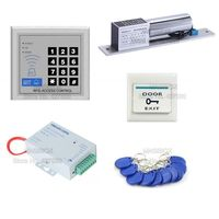 ACS29 Full Complete RFID Door Access Control Kit +Electric Bolt Lock+Power Supply +Switch+ RFID Cards