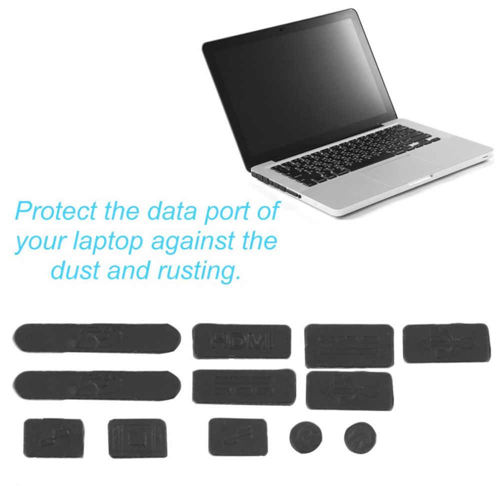 12 Pcs/set Profesional Silikon Anti Debu Plug Cover Stopper Laptop Tahan Debu USB Debu Plug Cover Set Cocok untuk Macbook