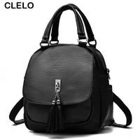 CLELO Fashion Designer Mini Small Backpacks Women Pu Leather School Bags Girls 2017 Portable Shoulder Bag