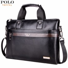 VICUNA POLO Business Solid Color font b Men b font Briefcases Luxury Brand font b Mens