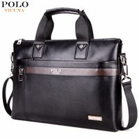 VICUNA POLO Business Solid Color Men Briefcases Luxury Brand Mens Laptop Bag Fashion Large Male Shoulder