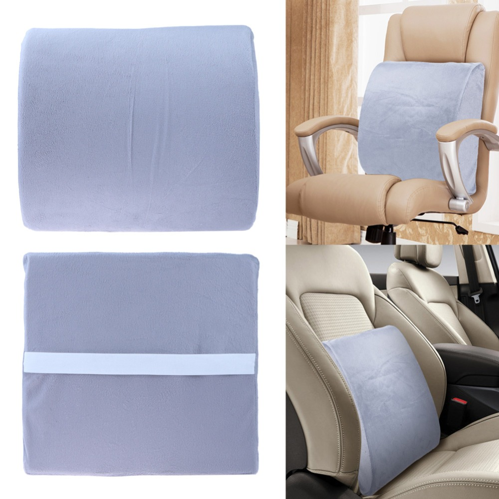 Chair Pillow Memory Foam Lumbar Back Support Cushion Relief Pillow for Office Home Car Auto Travel Booster Seat