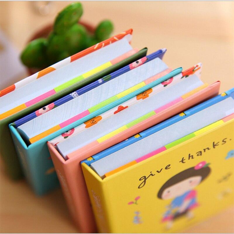 1pcs Mini Cartoon Girl Notebook Blank Stickers Notepad