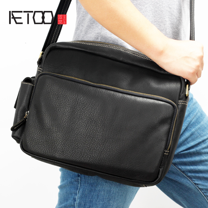 AETOO New Leather man packets shoulder bag oblique carry Baotou layer cowhide man soft leather bagAETOO New Leather man packets shoulder bag oblique carry Baotou layer cowhide man soft leather bag