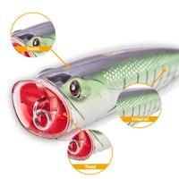 Noeby NBL 9069 popper lockt 14cm 40g meer angeln harten köder für meer bass barsch 3D augen schnelle lieferung von hunthouse-in Angelköder aus Sport und Unterhaltung bei