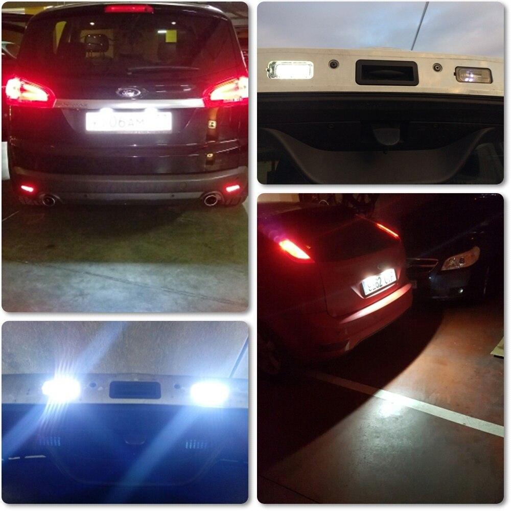 MK3 C S-MAX Mondeo MK4 DA3 Iluminaci/ón LED para matr/ícula de Ford Focus Fiesta Galaxy MK5 Kuga MAX MK6 MK2