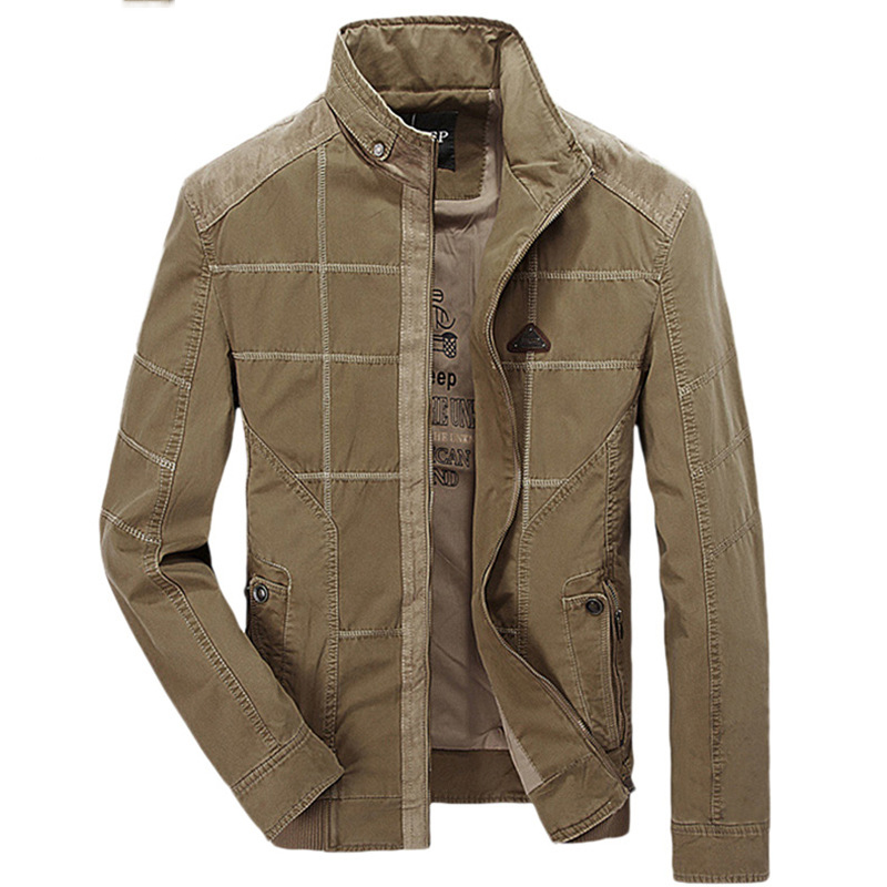New Stand Collar Military Jacket Coat Men jaqueta masculino inverno Autumn ZHAN DI JI PU Casual Mens Jacket Army casaco militar