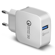 USB Charger Quick Charge 3.0 Fast Mobile Phone 18W Portable Wall Charger Adapter
