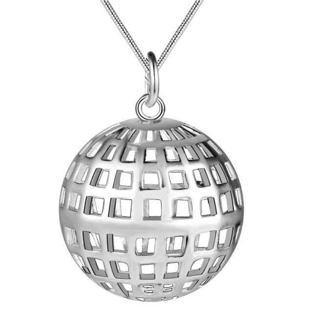 Hot retro style silver hollow ball pendant necklace jewelry hot retro style silver hollow ball pendant necklace jewelry beautiful holiday gift for women top quality aloadofball Images