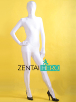 Livraison Gratuite Vente Chaude Halloween Sexy Costumes Full Body Lycra Zentai Spandex Body Unisexe Costume En Blanc Plus La Taille LZ140655