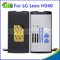 Cor preta para lg leon h340 h320 h324 h340n h326 ms345 c50 display lcd com vidro da tela de toque digitador assembléia + ferramentas