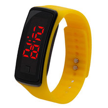 8 Colors New Fashion LED Sports Running Watch Date Rubber Bracelet Digital Wrist Watch Sports Watch Womens Mens Fitness Watch W(China)