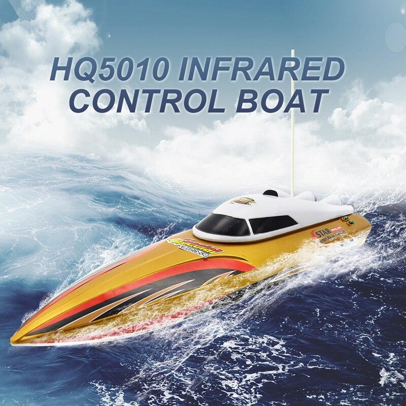 Bateau télécommandé pour lacs et piscines 15 km/h vitesse maximale bateau de course RC pour enfants jouet
