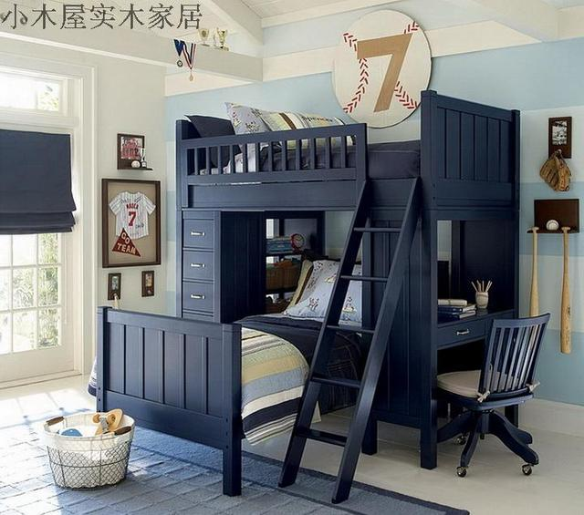 Shanghai Cabins Custom Furniture Childrenu0027s Bedroom Bunk Bed With Children  Up And Down The Wood Desk With Lockers