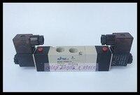 1Pcs 4V330E 10 AC220V 5Way 3Position Dual Solenoid Pneumatic Air Valve 3 8 BSPT Free Shipping