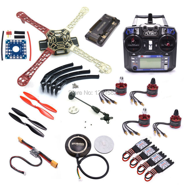 F450 quadcopter комплект стойки рамка fs-i6 fs i6 apm 2.6 стороны pin контроллер 7 М GPS 2212 920kv двигателя 30A ESC 1045 Prop