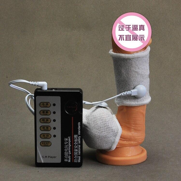 Electric Shock Penis Rings Scrotum Rings Electro Shock Penis Cock Rings Massagers Pump Enlargement Kits font