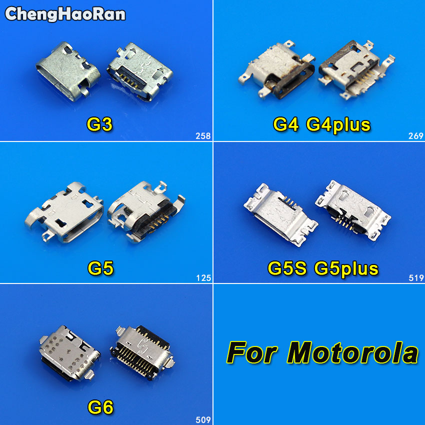 2pcs Charging Port For Motorola Moto G3 XT1541 XT1542 XT1543 G4 G5 G6 G5S G4/G5 Plus Micro USB Socket Connector Jack Dock Repair
