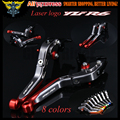 For Yamaha YZF R6 1999 2000 2001 2002 2003 2004 With Logo(YZF R6) Red+Titanium New CNC Adjustable Motorcycle Brake Clutch Levers