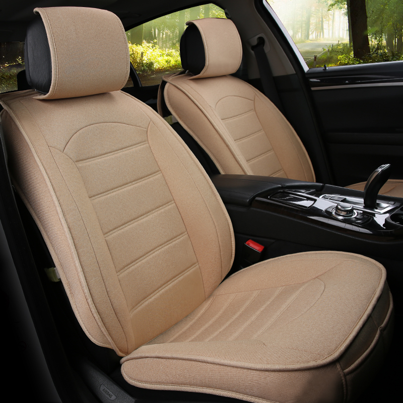 Universal flax fiber car seat cover auto seats covers for Nissan almera leaf murano safari pathfinder frontier