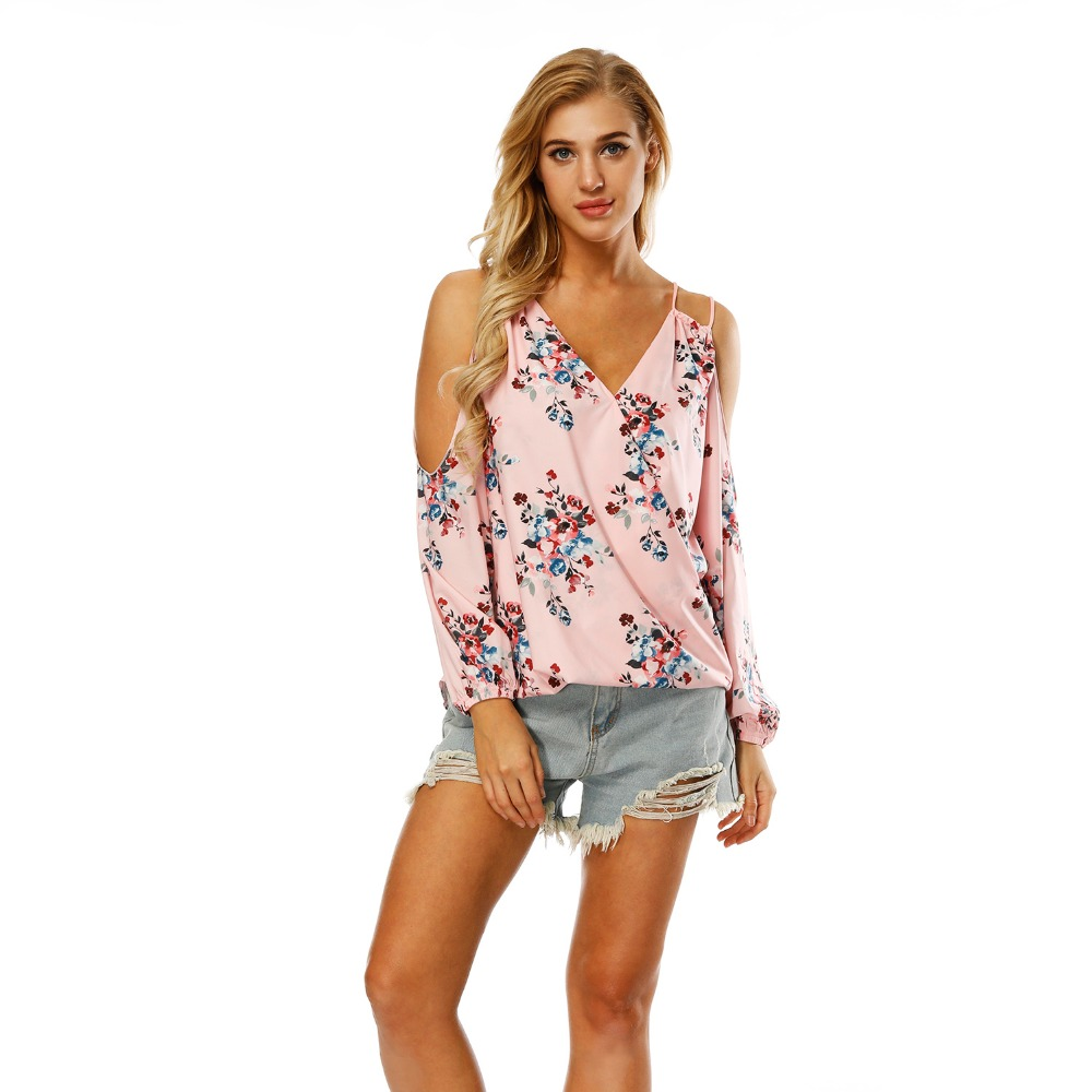 Miduo Women Casual Summer Beach Cold S Shirt Dress Floral Print Swimsuit Bathing Suit Cover up