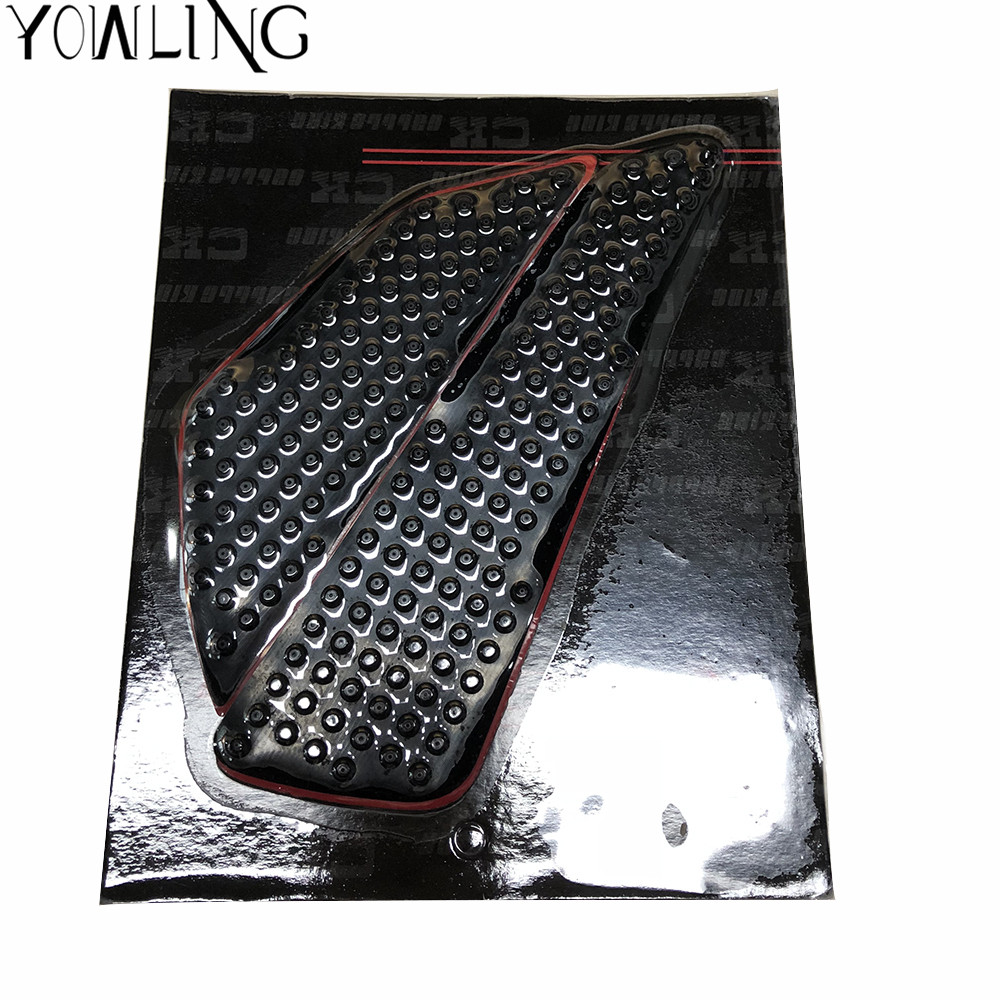 Hot sale motorcycle motorbike Tank Traction Pad Kit Top black Stickers decals for KAWASAKI ZX-6R ZX-9R ZX10R Z800 ZR800 Z1000SX